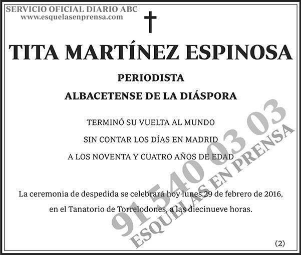Tita Martínez Espinosa
